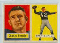 1957 Topps Football 109 Charlie Conerly High Number Single Print New York Giants Excellent to Excellent Plus