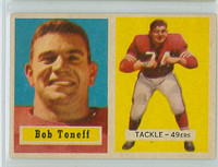 1957 Topps Football 148 Bob Toneff San Francisco 49ers Excellent to Mint