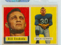 1957 Topps Football 153 Bill Svoboda New York Giants Excellent