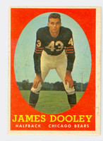 1958 Topps Football 8 Jim Dooley Chicago Bears Excellent to Excellent Plus