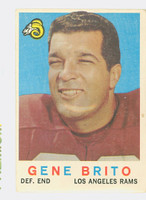 1959 Topps Football 2 Gene Brito Los Angeles Rams Good to Very Good