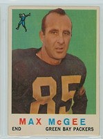 1959 Topps Football 4 Max McGee ROOKIE Green Bay Packers Very Good to Excellent