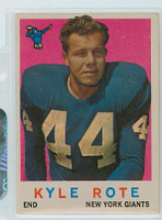 1959 Topps Football 7 Kyle Rote New York Giants Very Good to Excellent