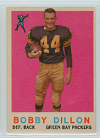 1959 Topps Football 12 Bobby Dillon Green Bay Packers Very Good to Excellent