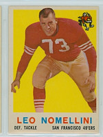 1959 Topps Football 19 Leo Nomellini San Francisco 49ers Excellent