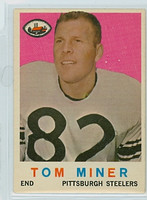 1959 Topps Football 52 Tom Miner Pittsburgh Steelers Very Good to Excellent
