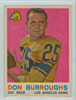 1959 Topps Football 59 Don Burroughs ROOKIE Los Angeles Rams Very Good to Excellent