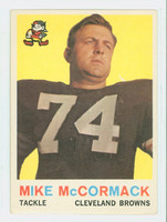 1959 Topps Football 74 Mike McCormack Cleveland Browns Good to Very Good
