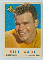 1959 Topps Football 110 Bill Wade Los Angeles Rams Excellent