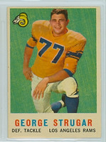 1959 Topps Football 121 George Strugar Los Angeles Rams Excellent to Mint