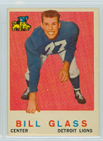 1959 Topps Football 122 Bill Glass ROOKIE Detroit Lions Very Good to Excellent