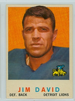 1959 Topps Football 143 Jim David Detroit Lions Very Good to Excellent
