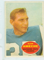 1960 Topps Football 2 Alan Ameche Baltimore Colts Excellent