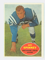 1960 Topps Football 7 Art Spinney Baltimore Colts Excellent to Mint