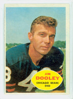 1960 Topps Football 15 Jim Dooley Chicago Bears Excellent to Mint