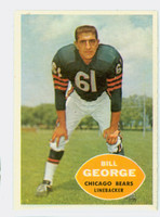 1960 Topps Football 18 Bill George Chicago Bears Excellent to Mint