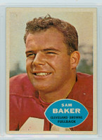 1960 Topps Football 24 Sam Baker Cleveland Browns Excellent to Excellent Plus