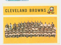 1960 Topps Football 31 Browns Team Very Good to Excellent