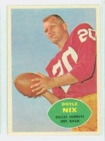 1960 Topps Football 39 Doyle Nix Dallas Cowboys Excellent to Mint