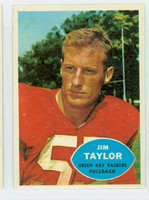 1960 Topps Football 52 Jim Taylor Green Bay Packers Excellent to Mint