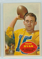 1960 Topps Football 62 Frank Ryan ROOKIE Los Angeles Rams Excellent to Mint