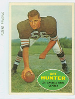 1960 Topps Football 67 Art Hunter Los Angeles Rams Excellent to Excellent Plus