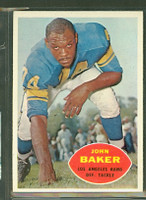 1960 Topps Football 70 John Baker Los Angeles Rams Excellent to Mint