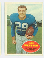 1960 Topps Football 75 Alex Webster New York Giants Excellent to Mint