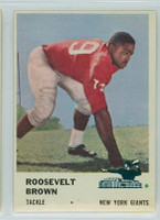 1961 Fleer Football 71 Roosevelt Brown New York Giants Excellent