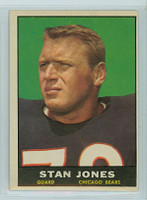 1961 Topps Football 14 Stan Jones Chicago Bears Excellent to Excellent Plus