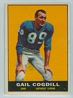 1961 Topps Football 32 Gail Cogdill ROOKIE Detroit Lions Excellent to Mint