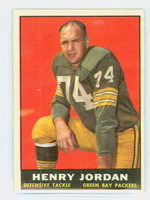1961 Topps Football 45 Henry Jordan ROOKIE Green Bay Packers Excellent to Mint