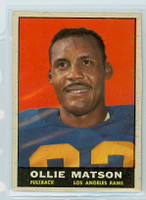 1961 Topps Football 50 Ollie Matson Los Angeles Rams Excellent