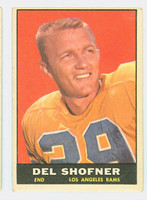1961 Topps Football 52 Del Shofner Los Angeles Rams Very Good to Excellent