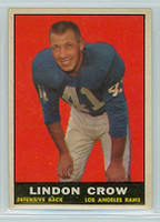 1961 Topps Football 55 Lindon Crow Los Angeles Rams Excellent