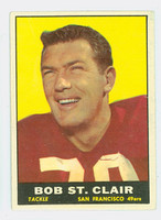 1961 Topps Football 63 Bob St. Clair San Francisco 49ers Very Good to Excellent