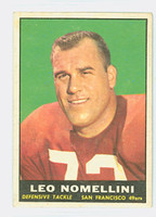1961 Topps Football 64 Leo Nomellini San Francisco 49ers Very Good to Excellent