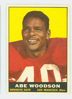 1961 Topps Football 65 Abe Woodson San Francisco 49ers Very Good to Excellent
