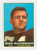 1961 Topps Football 72 Mike McCormack Cleveland Browns Very Good to Excellent