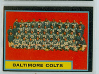 1962 Topps Football 12 Colts Team Excellent
