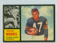 1962 Topps Football 15 Johnny Morris Single Print Chicago Bears Excellent to Excellent Plus