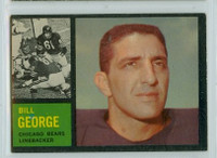 1962 Topps Football 22 Bill George Chicago Bears Excellent to Excellent Plus