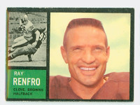 1962 Topps Football 27 Ray Renfro Single Print Cleveland Browns Excellent to Mint