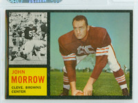 1962 Topps Football 31 John Morrow Cleveland Browns Excellent to Mint