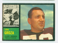 1962 Topps Football 32 Lou Groza Cleveland Browns Excellent to Mint