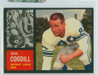 1962 Topps Football 53 Gail Cogdill Detroit Lions Excellent