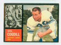 1962 Topps Football 53 Gail Cogdill Detroit Lions Excellent to Mint