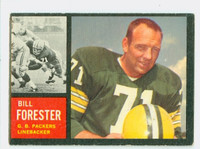 1962 Topps Football 73 Bill Forester Single Print Green Bay Packers Excellent