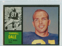 1962 Topps Football 82 Carroll Dale ROOKIE Los Angeles Rams Excellent to Excellent Plus