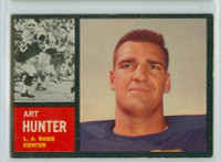 1962 Topps Football 84 Art Hunter Los Angeles Rams Excellent to Excellent Plus